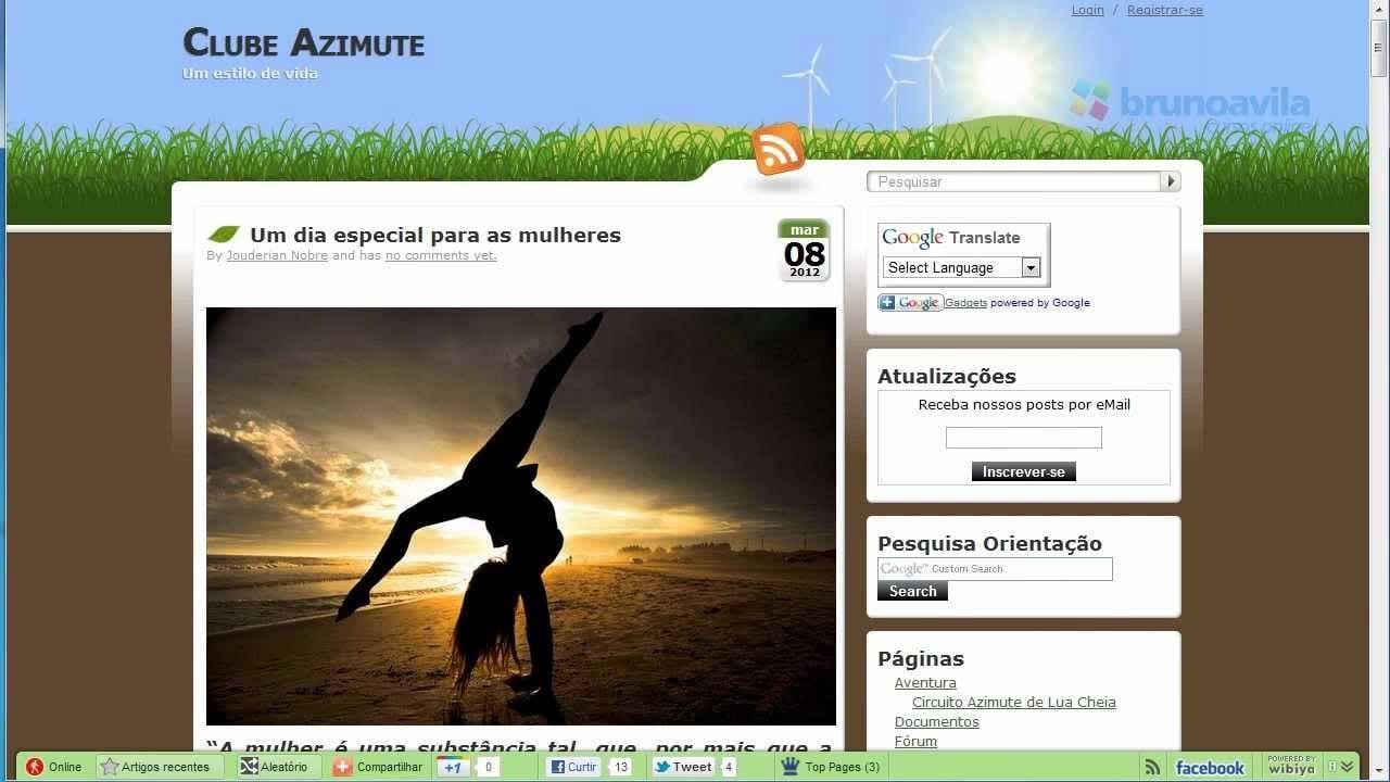 #analisemeusite – Clube Azimute