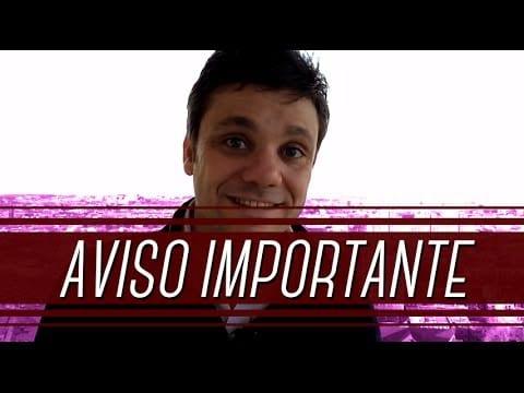 Aviso Importante | Erico Rocha