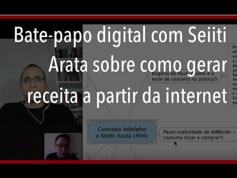 Bate-papo digital com Seiiti Arata sobre como gerar receita a partir da internet